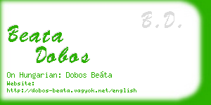 beata dobos business card